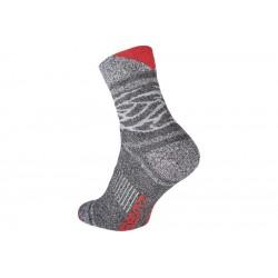 Ponožky OWAKA šedo-červené