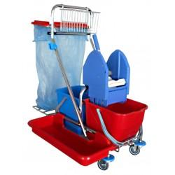 Úklidový vozík 2x17L s pytlem
