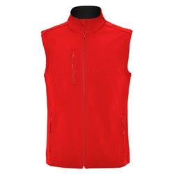 Vesta Quebec, softshellová, pánská, barvy: černá, červená, námořní modrá
